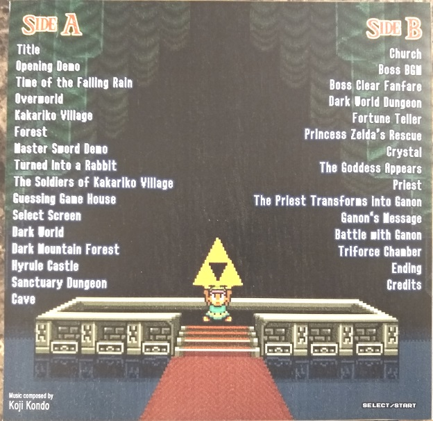 Select/Start LTTP jacket rear   Video Game Grooves